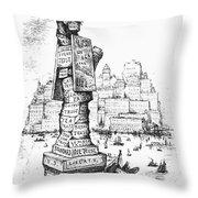 Anti-trust Cartoon, 1889 Throw Pillow by Granger