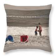 Anticipation Quote Throw Pillow