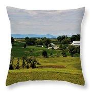 Antietam Battlefield And Mumma Farm Throw Pillow