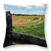 Antietam Farm Fence 2 Throw Pillow