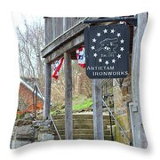 Antietam Ironworks Throw Pillow