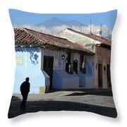 Antigua Guatemala Streetscene Throw Pillow