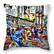 Antigua Market Throw Pillow