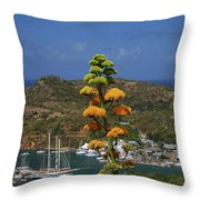 Antigua National Flower  Throw Pillow