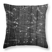 Antineutron, Bubble Chamber Event Throw Pillow