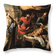 Antiochus And Stratonike Throw Pillow