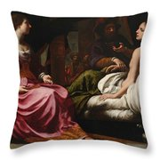 Antiochus Prince Of Syria And Stratonice His Stepmother Throw Pillow