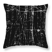 Antiproton Display, Bubble Chamber Event Throw Pillow
