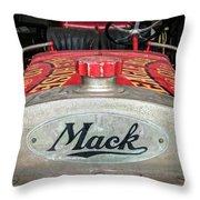 Antique 1930 Mack Bc-cd Fire Truck Throw Pillow