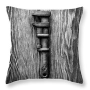 Antique Adjustable Wrench Bw Throw Pillow