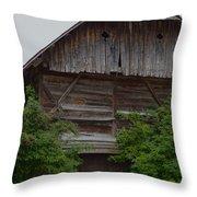 Antique Barn  Throw Pillow