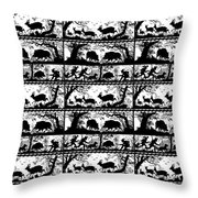 Antique Bavarian Forest Scenes Throw Pillow