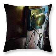 Antique Brass Doorknob Throw Pillow