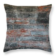 Antique Brick Wall Throw Pillow