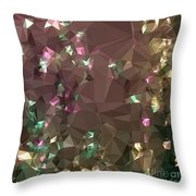 Antique Bronze Abstract Low Polygon Background Throw Pillow