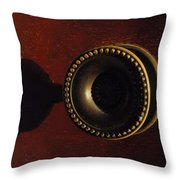 Antique Cabinet Handle And Shadow Throw Pillow