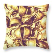 Antique Cafe Composition Throw Pillow