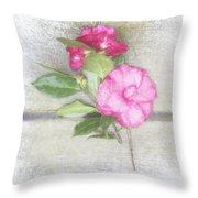 Antique Camellias Square Throw Pillow