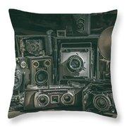 Antique Camera Throw Pillow