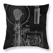 Antique Camera Flash Patent Throw Pillow