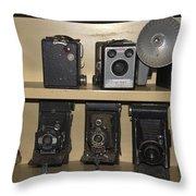Antique Cameras Throw Pillow