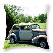 Antique Car 1 Throw Pillow by Douglas Barnett