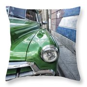Antique Car And Mural 2 Throw Pillow