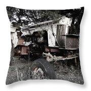 Antique Case Tractor Throw Pillow