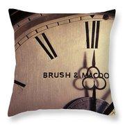 Antique Clock Throw Pillow