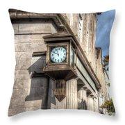 Antique Clock  Edenton North Carolina Throw Pillow