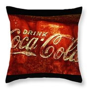 Antique Coca-cola Cooler II Throw Pillow