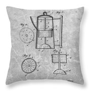 Antique Coffee Percolator Patent Throw Pillow