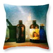 Antique Comforts Throw Pillow