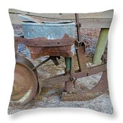 Antique Corn Planter Throw Pillow