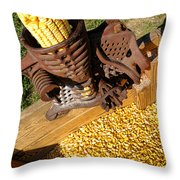 Antique Corn Sheller Throw Pillow