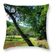 Antique Farm Equipment 4 Throw Pillow