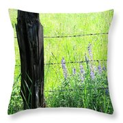 Antique Fence Post Throw Pillow