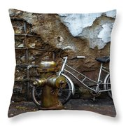 Antique Fire Hydrant 2 Throw Pillow