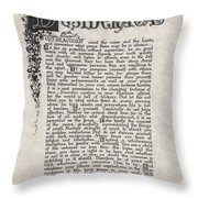 Antique Florentine Desiderata Poem By Max Ehrmann On Parchment Throw Pillow