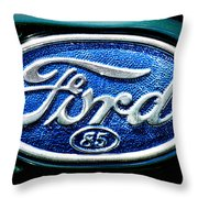 Antique Ford Badge Throw Pillow