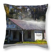 Antique Grocery Store Throw Pillow