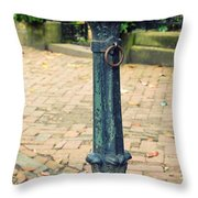 Antique Hitching Post Throw Pillow