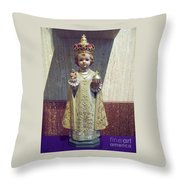 Precious Little King Throw Pillow
