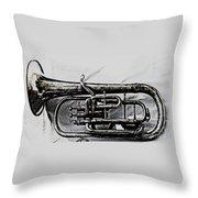 Antique Instrument  Throw Pillow