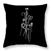 Antique Jewelry Pins Tee Throw Pillow