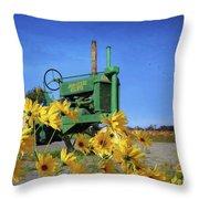 Antique John Deere Throw Pillow