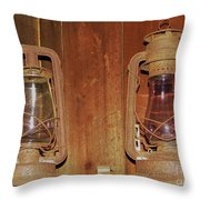 Antique Lamps Throw Pillow