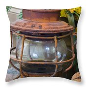 Antique Lantern Throw Pillow