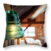 Antique Light Fixture 4 Throw Pillow