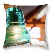 Antique Light Fixture 5 Throw Pillow
